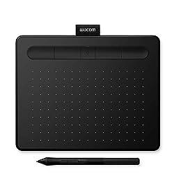 Wacom Intuos S schwarz Stift-Tablett - Mobiles Zeichentablett zum Malen & für Fotobearbeitung mit druckempfindlichem 4K Stift und 1 kostenlosen Softwaredownload * - Kompatibel mit Windows & Mac