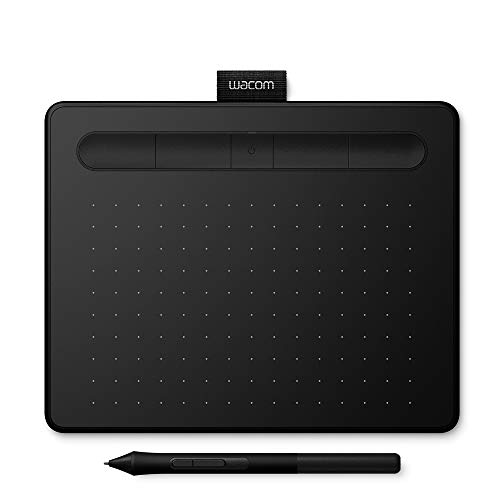 Wacom Intuos Small in Nero – Tavoletta Grafica USB per Disegno Digitale con Penna Creativa 4K – Compatibile con Windows & Mac – 1 Software Creativo scaricabile Gratis