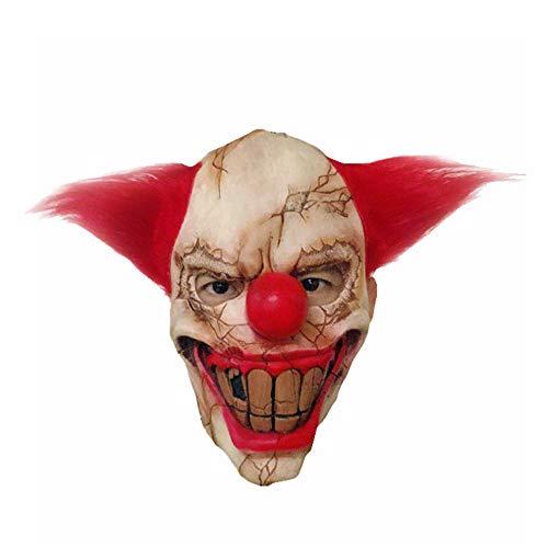 ZOUQILAI Scary Clown Maske Horror Creepy Latex Clown Masken für Erwachsene Halloween Party Cosplay Requisiten faulen Gesicht Clown Gesichtsmaske