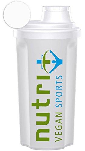 Nutri-Plus Vegan Sports 500ml Shaker Compact (transparent) 1er Pack - BPA-frei