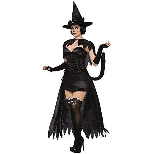 Fashion-Cos1 Sexy Hexe Halloween Kostüm Für Frauen Cosplay Kostüm Kleid Erwachsene Böse Hexe Maskerade Kostüm Rollenspiel Kostüm