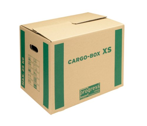 progressCARGO Transport-Umzugskarton, Eco, PC CB01.01, 1-wellig, 455 x 345 x 380 mm, 10-er Pack, braun