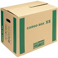 progressCARGO PC CB01.01 - Caja de embalaje (Eco, 1 ondulación, 455 x 345 x 380 mm, 10 unidades), color marrón