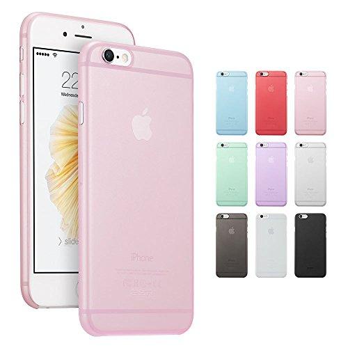 Coque iphone 6, ESR Ultra Mince Matte Transparente Coque Etui de Protection pour iPhone 6 / 6s 4,7 pouces [Anti Scratch ] [Anti Empreintes Digitales] Makeup Series_Pink Pink