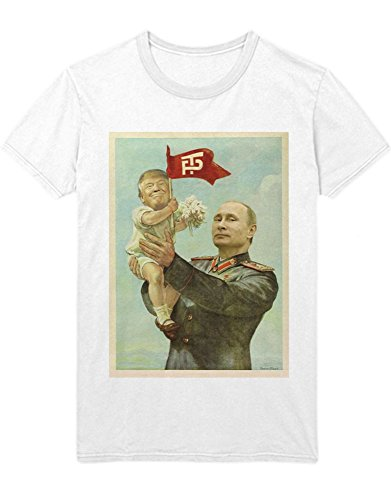 Hypeshirt T-Shirt Donald Trump Putin Praising Trump D450010 Weiß L