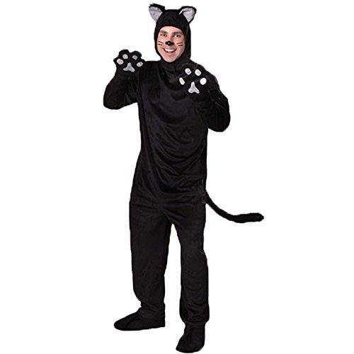 tüm,Katze Cosplay Rolle Spielen Fell Anzug Paar Schwarzbär Kostüm, Männer, L ()