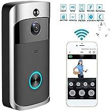 Video Timbre Wifi Videoportero Inalambrico Video Doorbell Cámaras 720P HD con Audio Bidireccional, Detección de