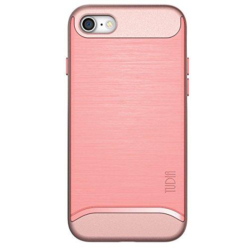 iPhone 7 Coque, TUDIA ETALIC Double Couche TPU Mince Bumper Coque pour Apple iPhone 7 (Noir) Rose