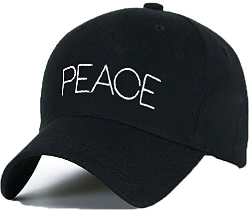 Bonnet Casquette Snapback Baseball PEACE Hip-Hop en Noir / Blanc avec les ASAP Bad Hair Day