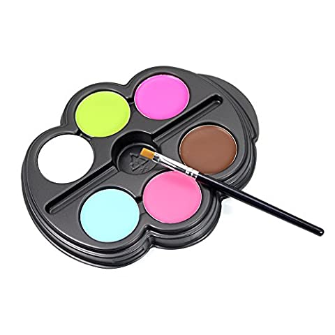Lavendei Kids Face Paint Palette Kit with Painting Brush-Rainbow Colour Party Face Painting Kit