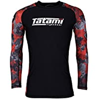 Tatami Rashguard Renegade–Red Camo–Rash Guard BJJ MMA Grappling Funktions Camiseta Top de Compresión para Hombre, Color Rojo, Tamaño Large