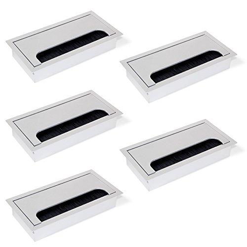 Emuca 5070462 Pasacables rectangulares encastrar