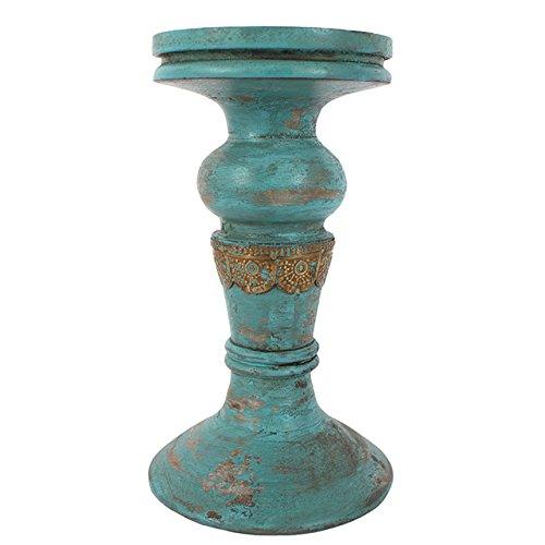Algo-diferente-del-ocano-ndico-antiguo-candelabro-azul-203-cm