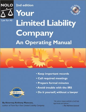 Your Limited Liability Company: An Operating Manual by Anthony Mancuso (2002-06-03)