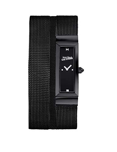Reloj de mujer de Jean Paul Gaultier –Correa de malla negra–acero PVD -33x 13,5mm–8503905