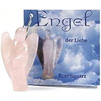 Engel der Liebe, Rosenquarz Anhänger mit Silberöse preisvergleich bei billige-tabletten.eu