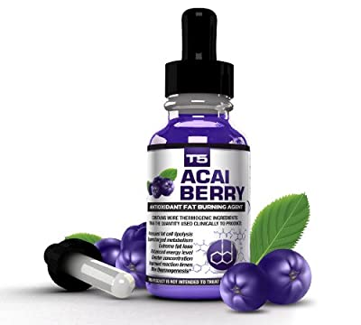 T5 Acai Berry Serum: Maximum Strength Antioxidant Fat Burner - Fast Acting Weight Loss & Detox (1 Month Supply) from BHS