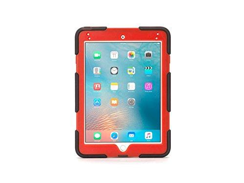 Griffin iPad Pro 9,7Zoll Rugged Case, umgebungseinflüssen mit Ständer, smoke/rot–Mil-Spec getestet, realen bewährter Schutz. (Griffin 4 Case Ipad Survivor)