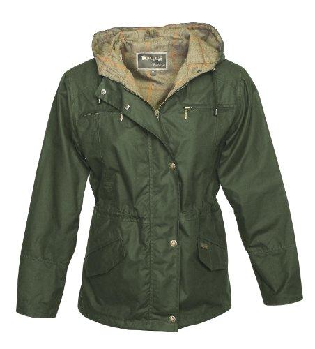 Toggi Damen Wachsjacke Women'Ambia Large grün - olivgrün Womens Storm Front Jacket