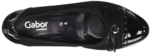Gabor Shoes Comfort Fashion, Scarpe con Tacco Donna Nero (47 Schwarz)