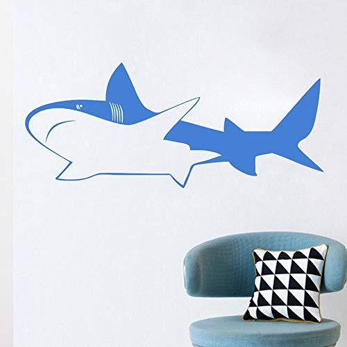 Jixiaosheng Ocean Whale Wandaufkleber Für Kinderzimmer Dekoration Zubehör Sänfte Whale Removable Wandkunst Tapete Aufkleber Wohnkultur59 * 25 Cm