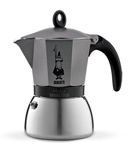 Bialetti 4823 Moka Induktion, 6 Tassen, Deluxe-Ausführung des Klassikers, anthrazit (Bialetti Espresso Maschine)