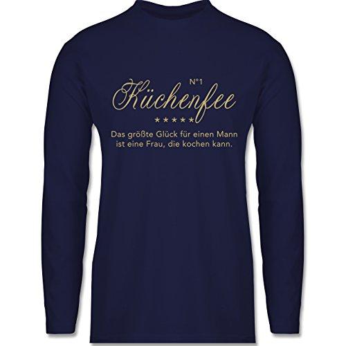 Küche - N°1 Küchenfee - Longsleeve / langärmeliges T-Shirt für Herren Navy Blau
