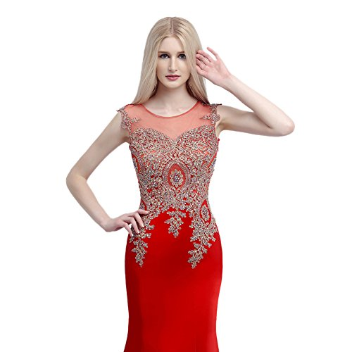 Ikerenwedding - Robe - Taille empire - Femme Small Rouge