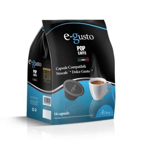 NESCAFE DOLCE GUSTO COMPATIBILE 32 capsule POP CAFFÈ E-GUSTO M. 4 Decaffeinato