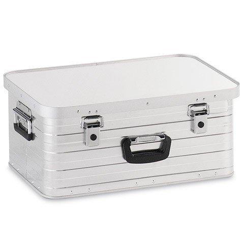 Alubox 47 Liter, hochwertig verarbeitet, mit Moosgummidichtung, Alukiste flexibel verwendbar als Transportbox und Lagerbox - Alukoffer Lagerkisten Metallkiste Metallbox Aluboxen Alukisten