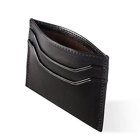 Italian Leather Slim Wallet - Elegant Packaging - Earphone Holder included - RFID - Kasper Maison