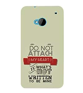 EPICCASE don't attach Mobile Back Case Cover For HTC One M7 (Designer Case)