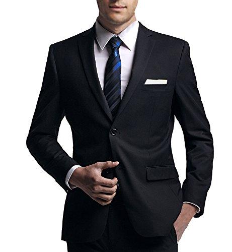Anzug slim fit, schwarz (Baukasten Option) aus Business Traveller Stoff/Tuch (102)