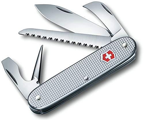 Victorinox Taschenmesser Swiss Army 7 Alox (7 Funktionen, Grosse Klinge, Holzsäge) silber -