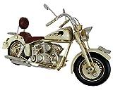 Goldbach Blech Motorrad beige Nostalgic Art Blechmodell Flammen Nostalgie 27 x 10,5 x 15 cm Metall Retro Shabby Vintage Nostalgic-Art