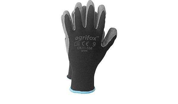 OX-LATEKS-BS 24 Paar Mechanikerhandschuhe Montagehandschuhe Handschutz Latex
