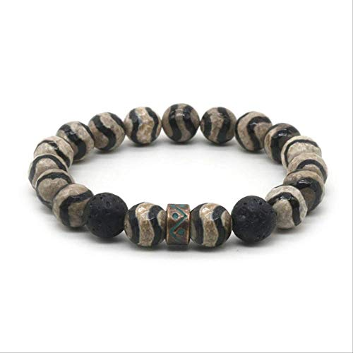LFDZSP Pierre Naturelle Bracelet Hommes Perles Bracelet Pour Hommes Et Femmes Meilleur Ami Cadeau Pour Lui Cadeau Pour ElleMZ-01