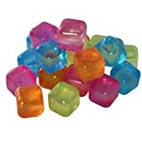 80 Eiswürfel bunt Party Kunststoff wiederverwendbar Eis Cube Würfel