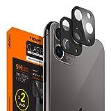 Spigen, 2Pezzi, Pellicola Fotocamera iPhone 11 PRO / 11 PRO Max (Nero), Copertura Totale, Custodia Compatibile, Durezza 9H, Protezione Fotocamera iPhone 11 PRO / 11 PRO Max (AGL00500)