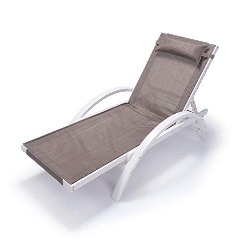 Ampel 24 Liegestuhl Caribic | Verstellbare Rückenlehne | 100% wetterfeste Gartenliege | Sonnenliege...