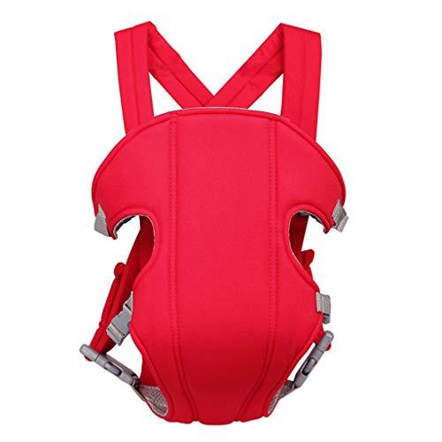 guoyy Baby Carrier Safety ajustable recién nacidos Strap Soft Wrap-Mochila multifunción Cuatro Posición Tape rojo rojo
