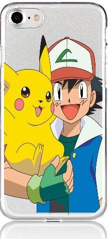 POKEMON iPhone Schutz Hülle Disney Cartoon Comic Anime Motive Case TPU Glumanda iPhone 6/6s Pika und Ash