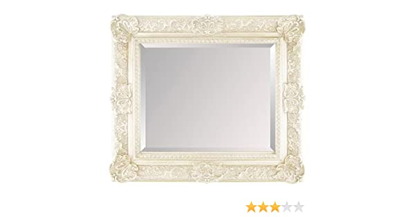 Ready To Hang Fabulous Mirrors Large Black Ornate Embossed Shabby Chic Framed Wall Mirror 46inch X
