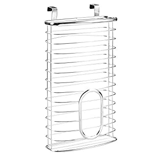 InterDesign Axis Over the Cabinet Kitchen Storage Holder for Plastic and Garbage Bags - Chrome by InterDesign