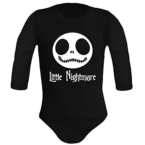 Body bebé unisex. Parodia Little Nightmare - The nightmare before chr