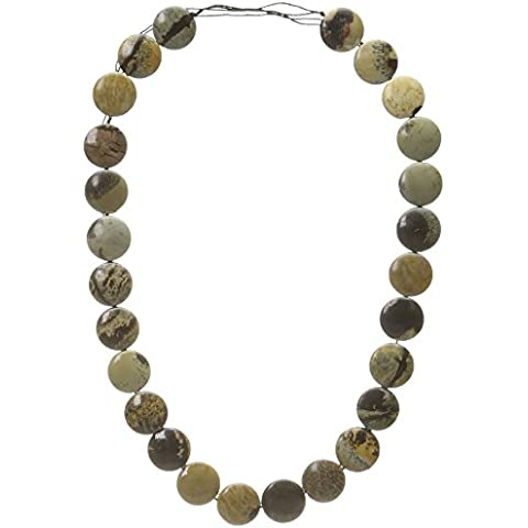 Elan Beads Artistic Jasper Coin Beads, 15mm by Elan Beads
