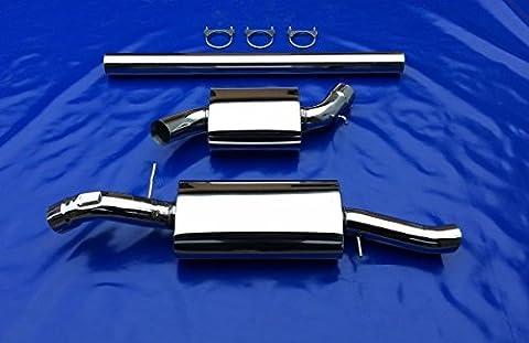 3pouces (76mm) pour VW Corrado VR62.0U 2.016V S de 76acier inoxydable échappement échappement Sport Turbo sans gutachten