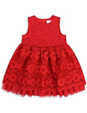 The Essential One - Baby Kinder Mädchen Party Kleid - Rot - EOT381