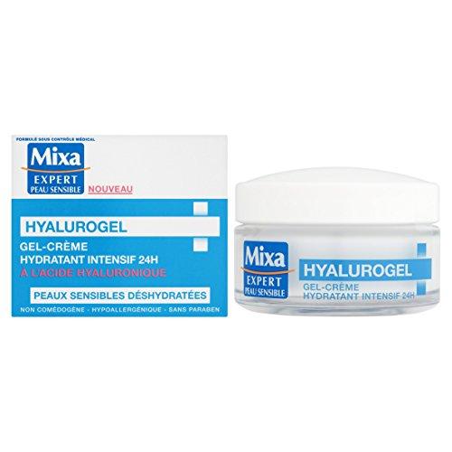 Mixa Expert Peau Sensible - Hyalurogel Gel-Crème Hydratant Intensif 24h à l'Acide Hyaluronique -...