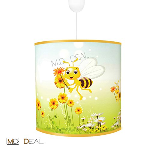 Kinderzimmer Jungen Deckenleuchte Hängelampe - BIENE- Leuchte Lampe Decke 12Watt LED warmweiß E27